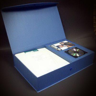 Kassette / Präsentbox für Katalog, CD und Buch